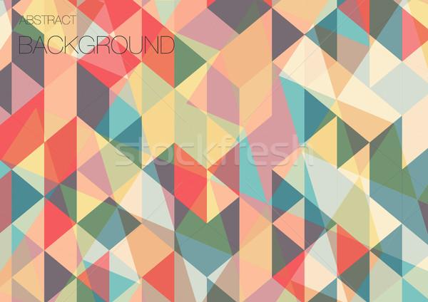 Behang Met Patroon : Driehoek · meetkundig · behang · geometrisch · patroon · vector