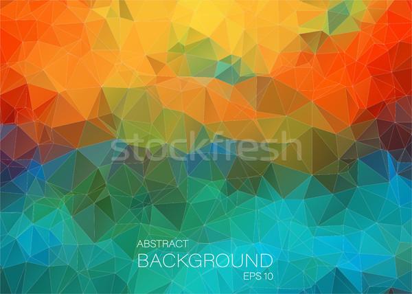 Abstrato colorido web design triângulo geométrico projeto Foto stock © igor_shmel