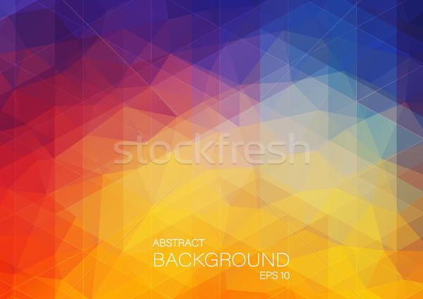 明るい 色 三角形 黄色 赤 ストックフォト © igor_shmel
