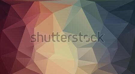 Flat 2D triangle background Stock photo © igor_shmel