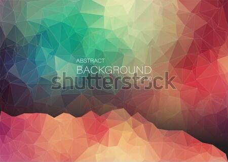 Colorido mosaico triângulo formas geométrico arte Foto stock © igor_shmel