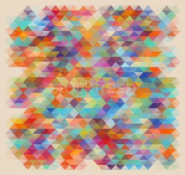 Geométrico estilo abstrato cor negócio retro Foto stock © igor_shmel