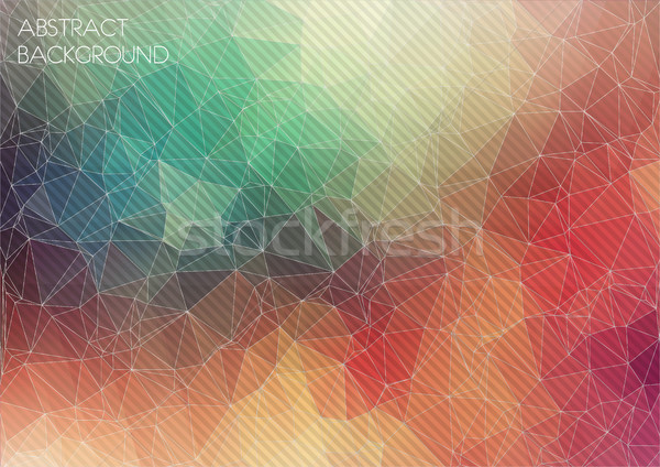 Abstrato geométrico colorido água luz retro Foto stock © igor_shmel
