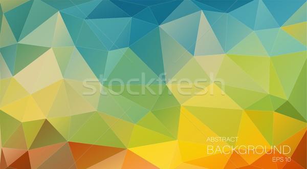 Abstract mozaiek driehoek licht ontwerp Stockfoto © igor_shmel
