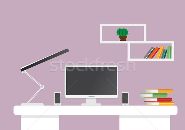創造 オフィス デスクトップ 作業領域 ベクトル アップ ストックフォト © igor_shmel