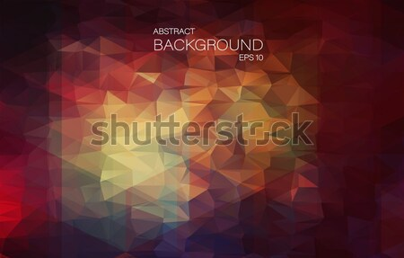 Red 2D Abstract and polygonal background Stock photo © igor_shmel