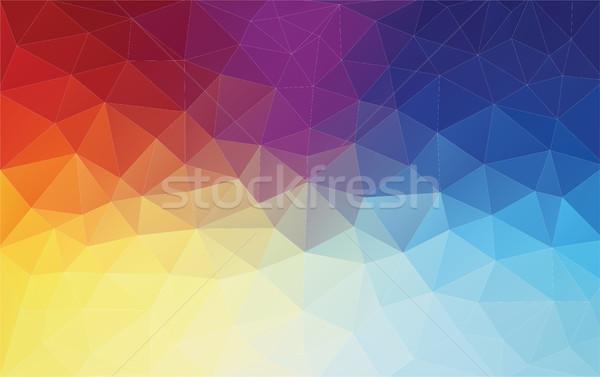 垂直 抽象的な 幾何学的な カラフル Webデザイン 水 ストックフォト © igor_shmel
