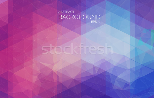 Violet 2D mosaic background with triangle shapes Stock photo © igor_shmel