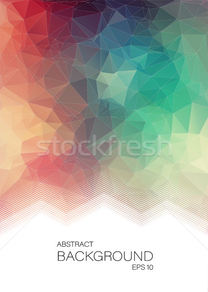 Dikey soyut geometrik renkli web tasarım su Stok fotoğraf © igor_shmel