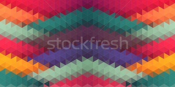 Lowpoly composition with triangle shapes Stock photo © igor_shmel