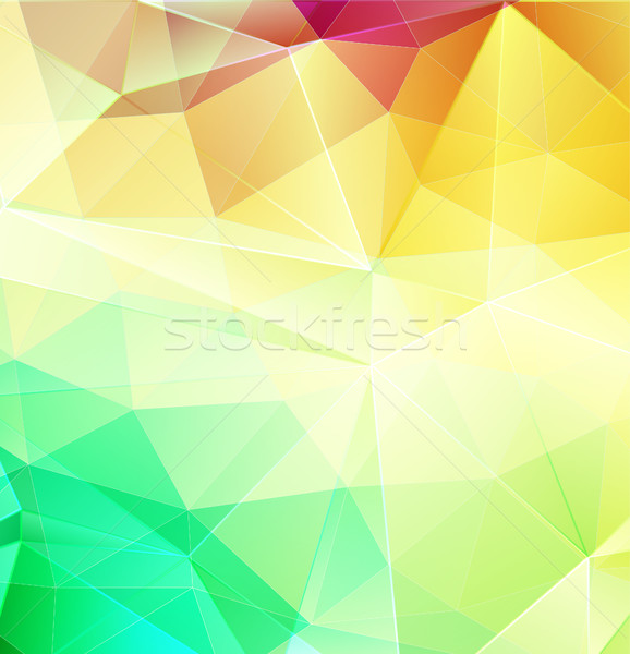 Yellow and Green abstract mosaic background with triangle shapes Stock photo © igor_shmel