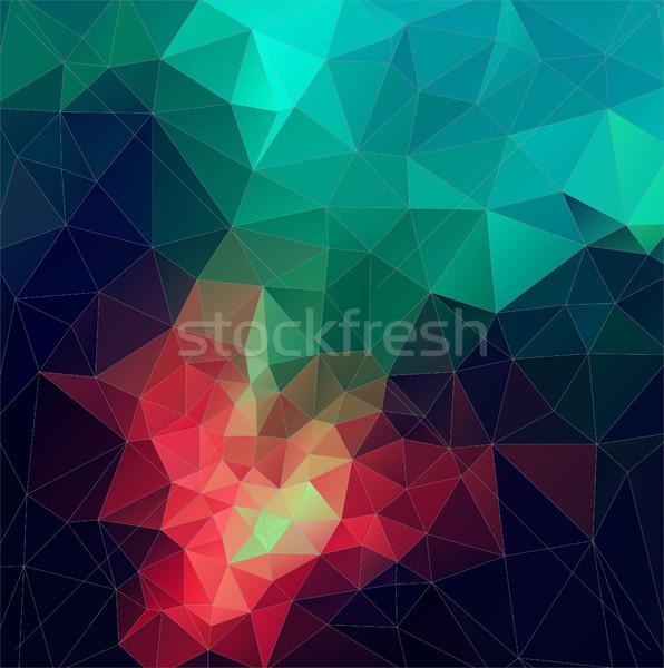 Szín absztrakt vektor mozaik háromszög mértani Stock fotó © igor_shmel