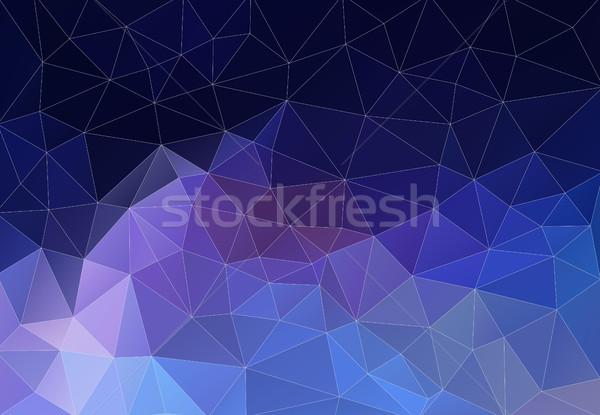 幾何学的な レトロな 三角形 カラフル モザイク ストックフォト © igor_shmel