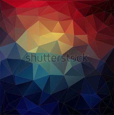 Soyut renkli üçgen geometrik parlak renkler Stok fotoğraf © igor_shmel