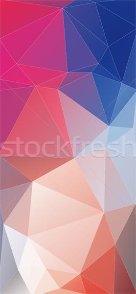 Modern Flat vertical Background of geometric shapes. Stock photo © igor_shmel