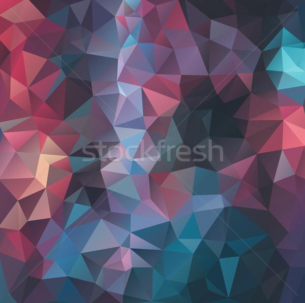 Bağbozumu renkler geometrik model duvar kağıdı ışık Stok fotoğraf © igor_shmel
