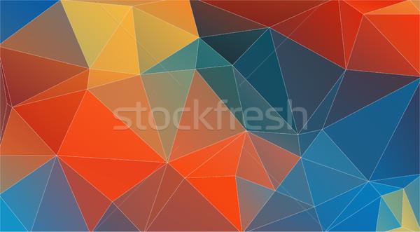 üçgen vektör renkli duvar kağıdı ışık Retro Stok fotoğraf © igor_shmel