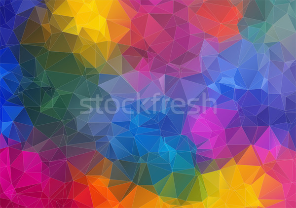 Abstract 2D geometric colorful background Stock photo © igor_shmel