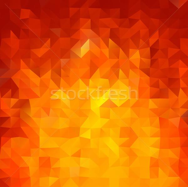 Brilhante vermelho vetor abstrato mosaico formas Foto stock © igor_shmel