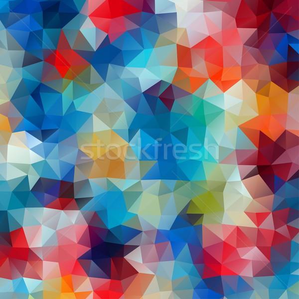 Absztrakt színes retro mértani fényes színek Stock fotó © igor_shmel