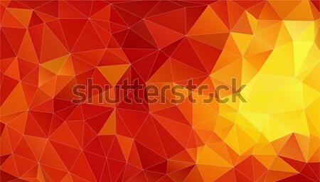 Geen red abstract polygonal background Stock photo © igor_shmel