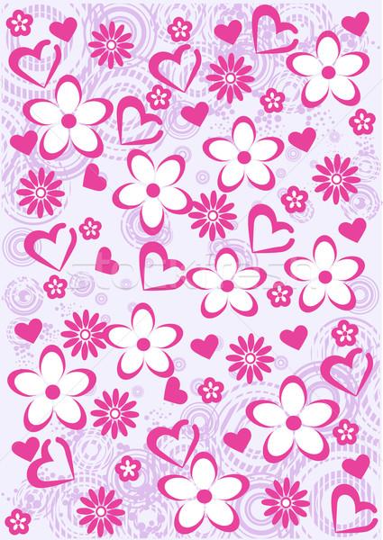 ピンク 抽象的な フローラル パターン ベクトル 花 ストックフォト © igor_shmel