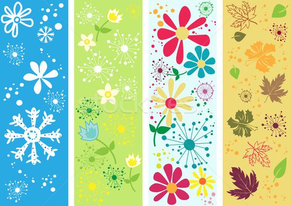 Zestaw cztery pory roku pionowy banery wody charakter Zdjęcia stock © igor_shmel