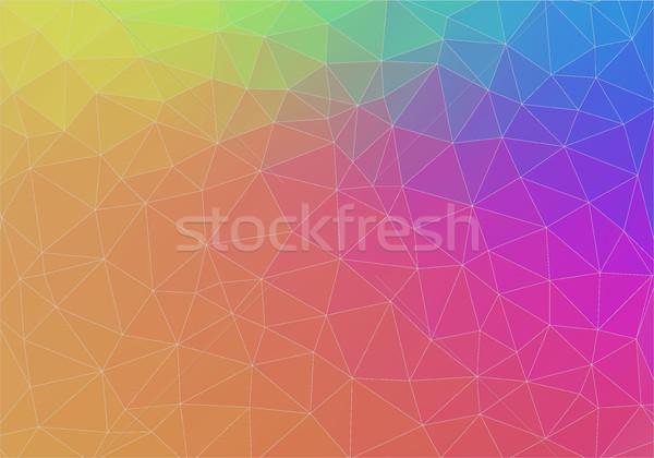 Stok fotoğraf: üçgen · eğim · renk · duvar · kağıdı · model · ışık