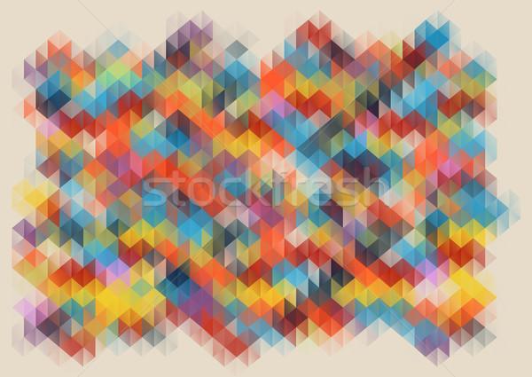 低い 抽象的な モザイク ベクトル 広場 ピクセル ストックフォト © igor_shmel