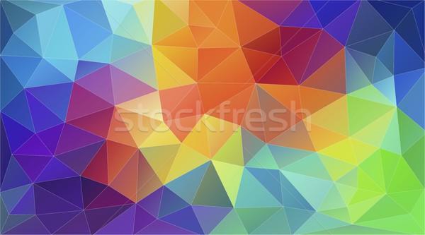 幾何学的な 三角形 壁紙 パターン 水 テクスチャ ストックフォト © igor_shmel