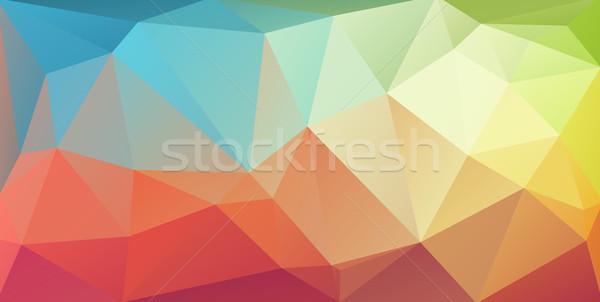 Stok fotoğraf: Süper · yatay · üçgen · kapak · afiş · su