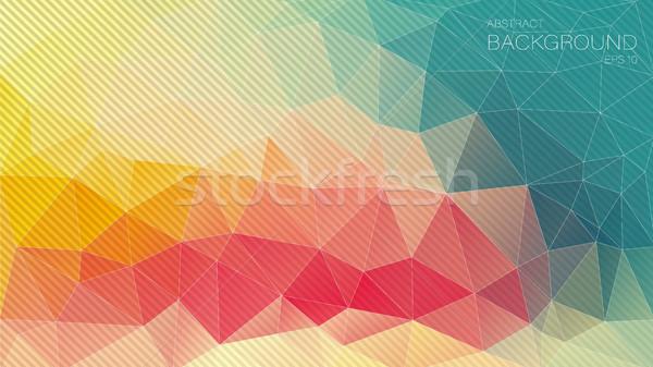 Retro color Triangle background with oblique lines Stock photo © igor_shmel