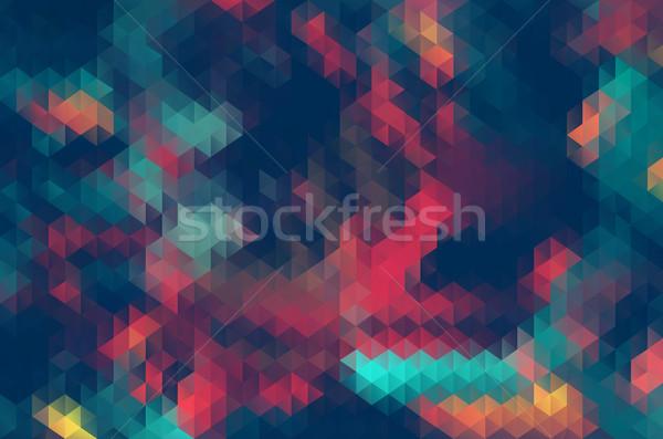抽象的な 三角形 幾何学的な クール パターン 壁紙 ストックフォト © igor_shmel