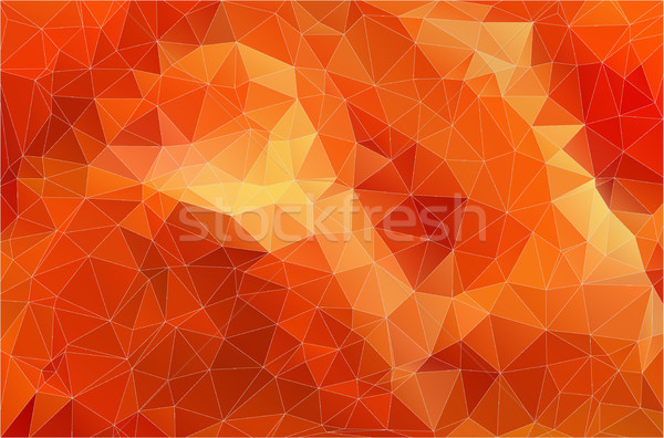 Flat Orange Polygonal Background Stock photo © igor_shmel