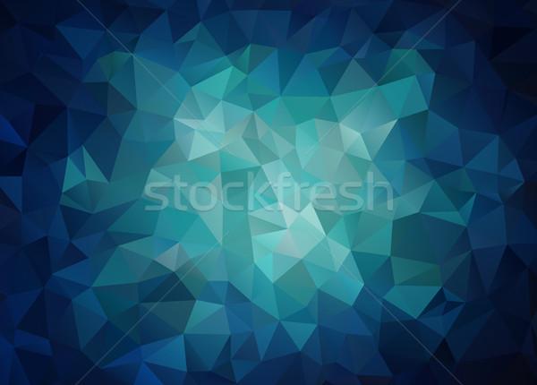Vízszintes kék szalag háromszög formák vektor Stock fotó © igor_shmel
