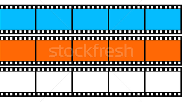 Colored 3d blank films texture Stock photo © ijalin