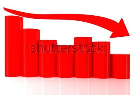 3D 棒グラフ グラフ 移動 ダウン ストックフォト © ijalin