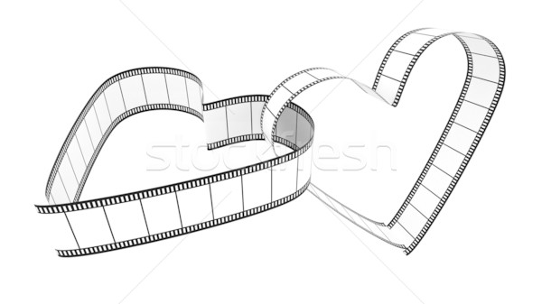 Two Blank Filmes Heart Stock photo © ijalin