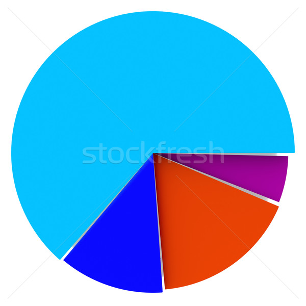 Color Pie Diagram Stock photo © ijalin