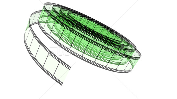 Green Segment color film rolled down Stock photo © ijalin