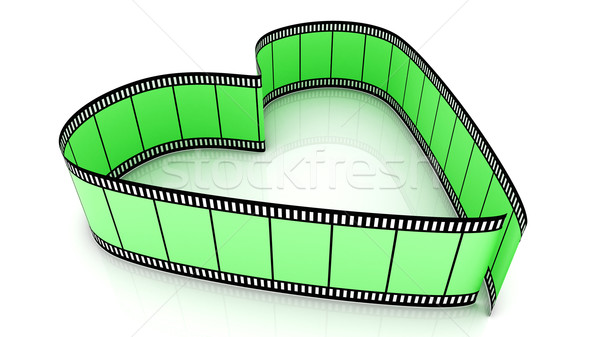 Green Blank Filmes Heart Stock photo © ijalin