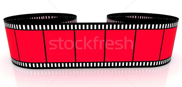 Filmszalag rész szín film tekert felfelé Stock fotó © ijalin