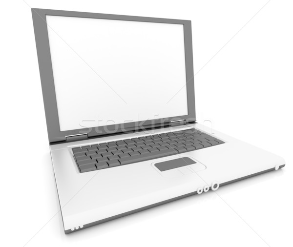 Laptop On White Background Stock photo © ijalin