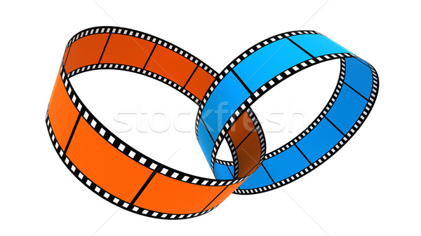 Two 3d blank films ring Stock photo © ijalin