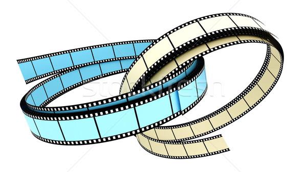 Kettő 3D filmek gyűrű gyűrűk fehér Stock fotó © ijalin