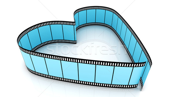 Blue Blank Filmes Heart Stock photo © ijalin