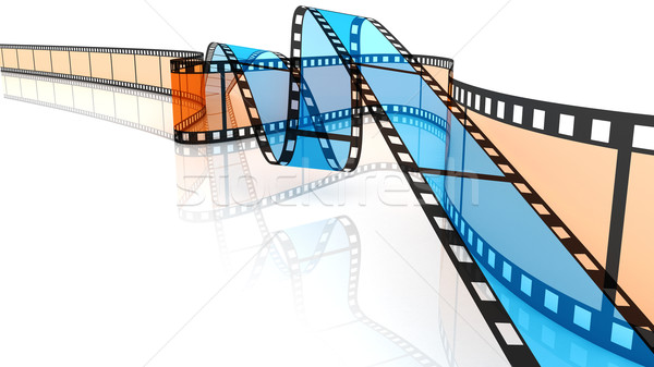 Blue and orange 3d blank films Stock photo © ijalin
