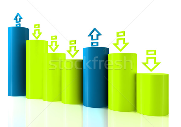Barchart with arrows Stock photo © ijalin