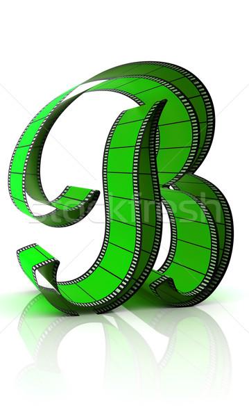 ábécé film izolált fehér művészet ír Stock fotó © ijalin