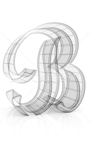 ábécé film izolált fehér háttér felirat Stock fotó © ijalin